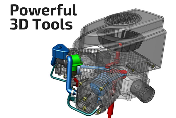AutoCAD page - 3d tools