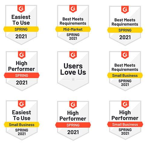 G2 2021 Badges (Spring 2021)