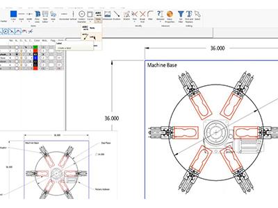 2D assembly machine design