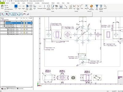 sheet metal part drawing KeyCreator