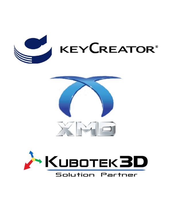 KeyCreator, XMD, and Kubotek3D logos