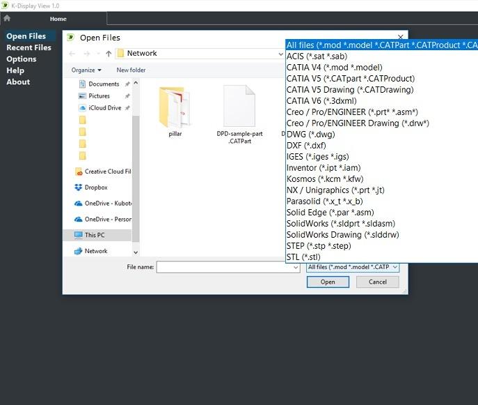 CAD File Read CATIA NX Creo SolidWorks Inventor AutoCAD