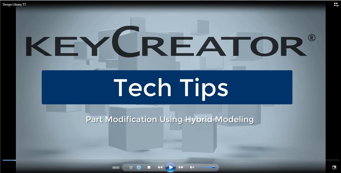 #TechTipTuesday-- Part Modification Using Hybrid CAD Software Modeling Tools