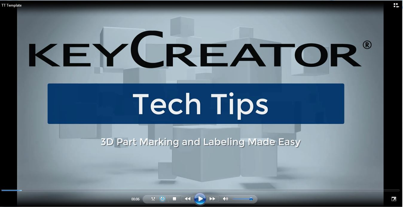 #TechTipTuesday-- 3D Labels and Part Marks Made Easy