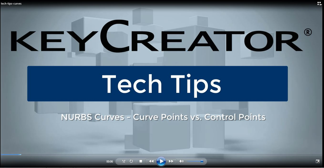 #TechTipTuesday-- NURBS Curves - Curve Points vs. Control Points