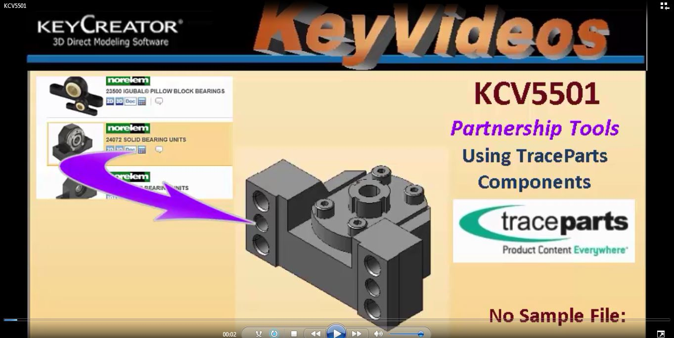 #TechTipTuesday--Using TraceParts Components in KeyCreator 2016