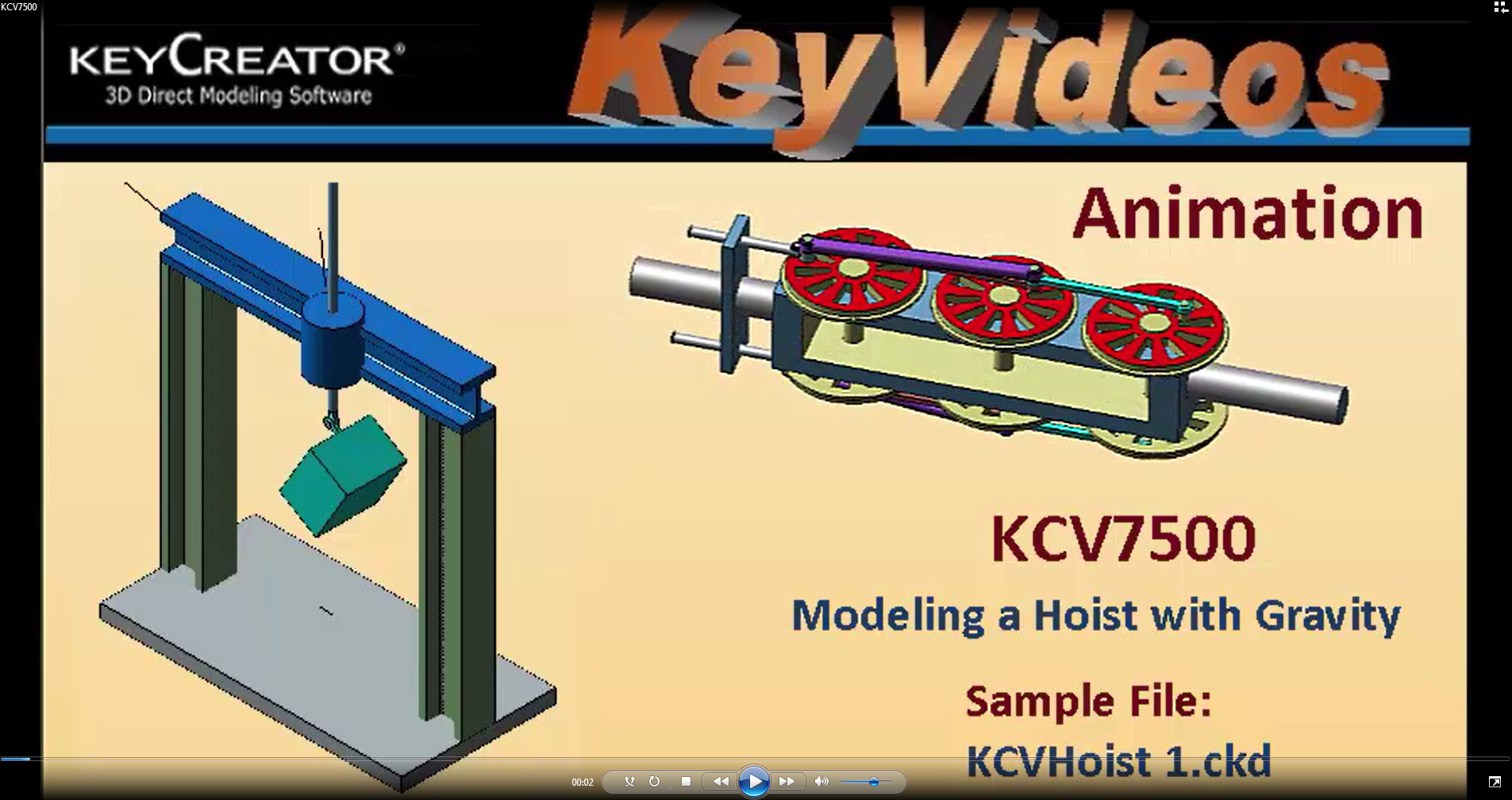 Tuesday Tech Tip--Animation: 3D CAD Modeling A Hoist With Gravity